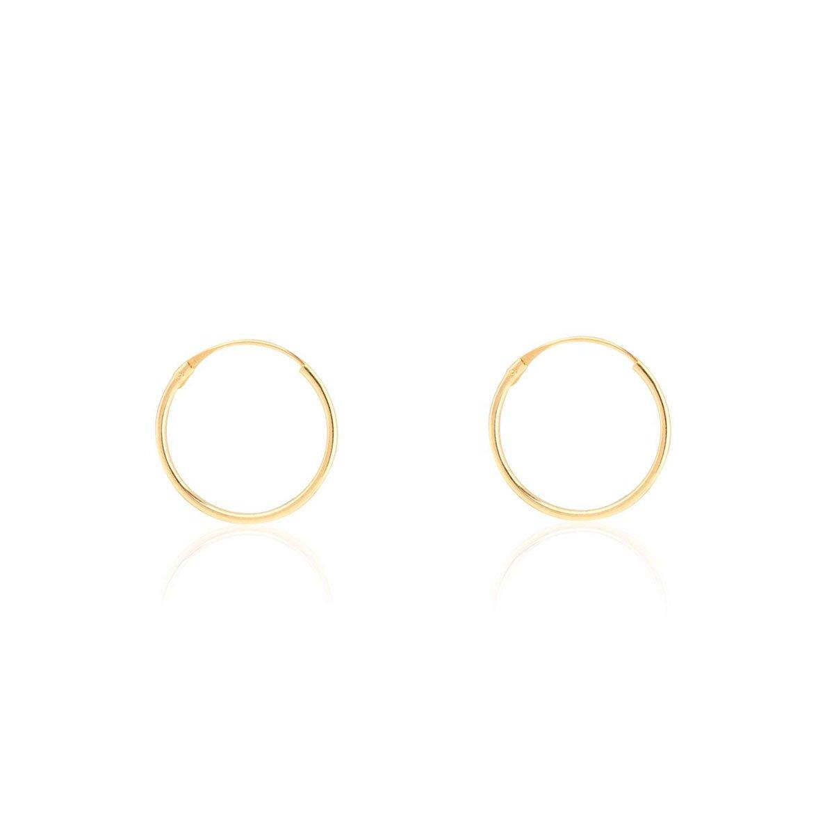 Boucles d'Oreilles Creoles 10x0.80 mm Or Jaune 9 Carats Dadaro T2020PA9K