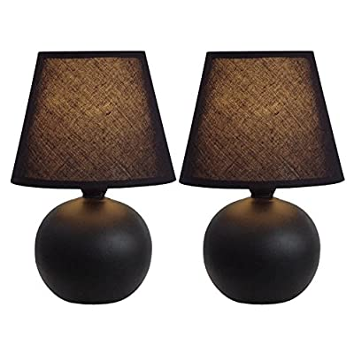 All The Rages LT2008-YLW-2PK  Simple Designs 		Yellow Ceramic Globe Table Lamp - Dimensions: 5.55 diam. x 8.78H in. Shade dimensions: 5.5 diam. in. Available in a variety of colors - lamps, bedroom-decor, bedroom - 51gzugzXjQL. SS400  -