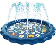 SplashEZ 3-in-1 Sprinkler for Kids, Splash Pad, and Wading Pool for Learning – Children's Sprinkler Pool, 60''