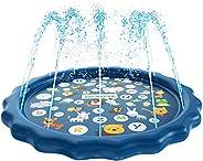 SplashEZ 3-in-1 Splash Pad, Sprinkler for Kids, and Wading Pool for Learning – Children's Sprinkler Pool, 60''