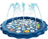 "SplashEZ 3-in-1 Sprinkler for Kids, Splash Pad, and Wading Pool for Learning - Children's Sprinkler Pool, 60'' Inflatable Water Toys - ""from A to Z"" Outdoor Swimming Pool for Babies and Toddlers"