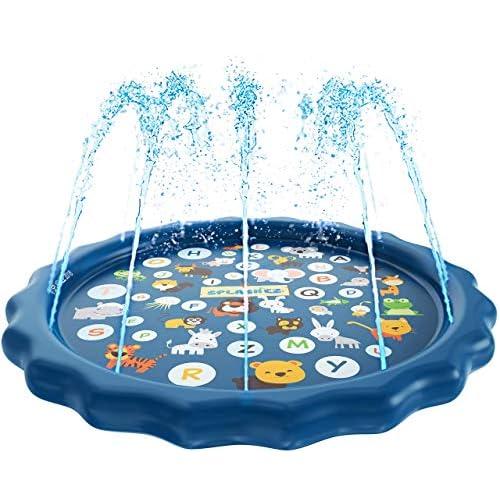 SplashEZ 3-in-1 Sprinkler for Kids, Splash Pad, and Wading...