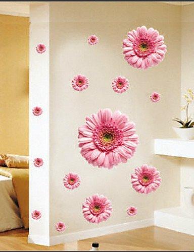 pegatinas de pared de tatuajes de pared, de color rosa margarita ...