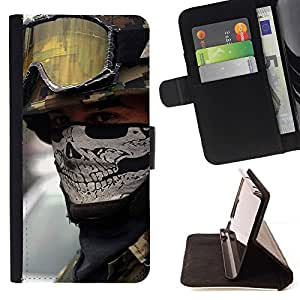 For Samsung Galaxy S6 EDGE (NOT S6) Case , narkomany Meksika Voyna cherep- la tarjeta de Crédito Slots PU Funda de cuero Monedero caso cubierta de piel