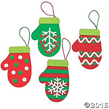 Christmas Mitten Ornament Craft Kit - Crafts for Kids & Ornament Crafts