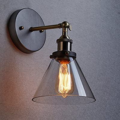 CLAXY Ecopower Industrial Edison Antique Glass Wall Sconces