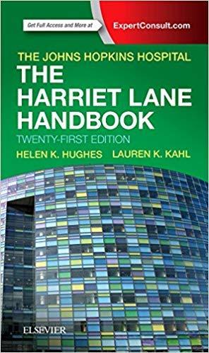 [By Johns Hopkins Hospital] The Harriet Lane Handbook: Mobile Medicine Series 21st Edition-[Paperback] Best selling books for |Pediatric & Neonatal Nursing (Books)|