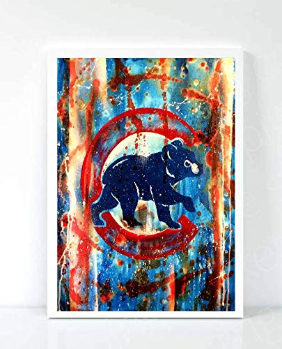 Chicago Cubs Limited Poster Artwork - Professional Wall Art Merchandise (More (8x10) ()