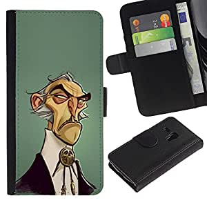 APlus Cases // Samsung Galaxy S3 MINI NOT REGULAR! I8190 I8190N // Historieta hombre salvaje del oeste estilo moda // Cuero PU Delgado caso Billetera cubierta Shell Armor Funda Case Cover Wallet Credit Card