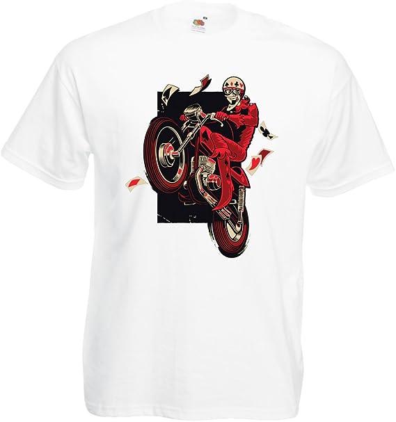 lepni.me Camisetas Hombre Motociclista - Ropa de Motocicleta, Ropa Retro: Amazon.es: Ropa y accesorios