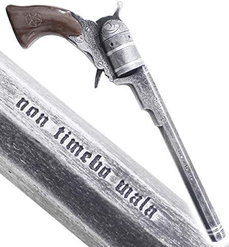 RKS Diffusion Supernatural Pistolet Tout en Resine Colt John Winchester Replique avec Balles Plastique Coffret Bois Collection