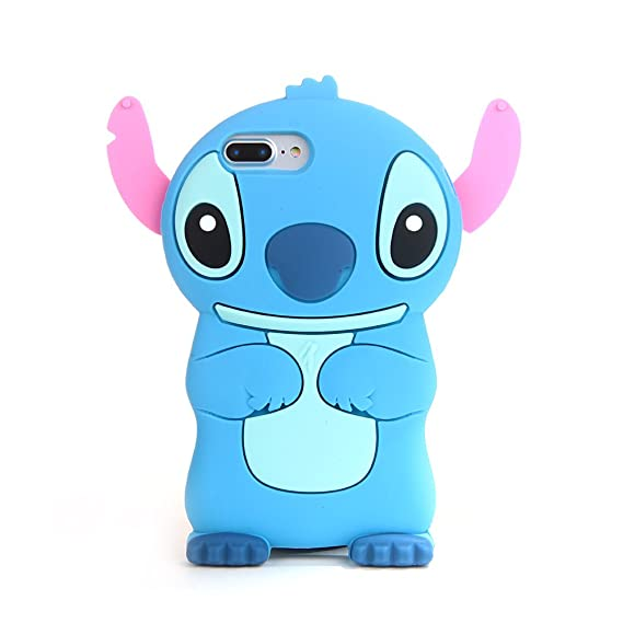 new products 512c6 49461 Blue Stitch Case for iPhone 7+ 7Plus 8 Plus 8+ Large Size 5.5