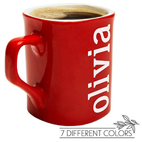 Personalized Coffee Mug - YOUR NAME OR TEXT HERE - 10 oz. Ceramic Custom Coffee Mug - FREE Laser Engraving - Personalized Ceramic Cups - N6