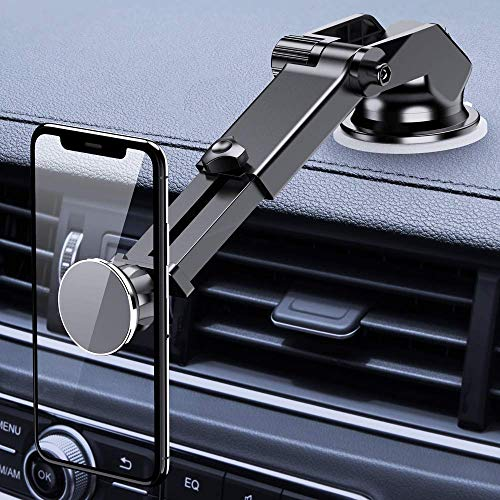 FLOVEME Magnetic Phone Car Mount Universal Phone Holder for Car Dashboard and Windshield with Extendable Long Neck Arm,Car Phone Mount Compatible with iPhone X/XR/XS MAX,Samsung S10/S8/Note 8/9
