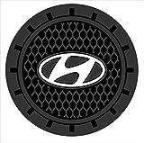 hyundai cup holder insert - Auto sport 2.75 Inch Diameter Oval Tough Car Logo Vehicle Travel Auto Cup Holder Insert Coaster Can 2 Pcs Pack (Hyundai)