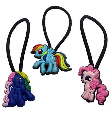 [Little Pony Hairband Ponytail Holder Mini Set 3 Pcs] (Disney Tinker Bell Kids Sparkle Shoes)