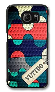 Samsung S6 Case,VUTTOO Cover With Photo: Colored Squiggles For Samsung Galaxy S6 - PC Black Hard Case