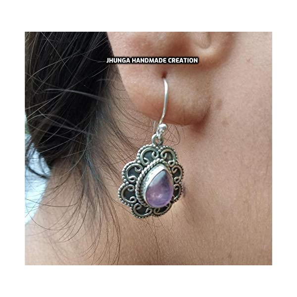 Jewelryonclick Original Amethyst 925 Silver February Birthstone For Women Victoria Square Shape Necklace
