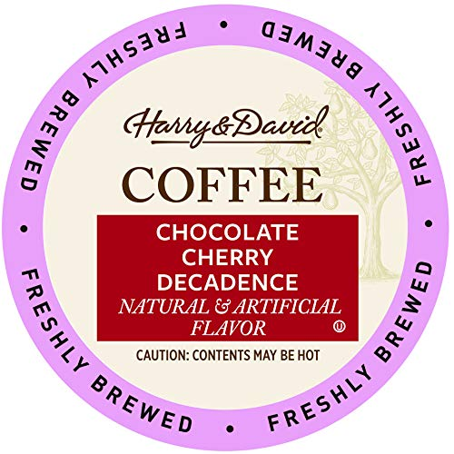 Cherry Coffee - Harry and David Coffee in Single Serve Cups for Use with all Keurig K-Cups Brewers 18 Count (Chocolate Cherry Decadence)