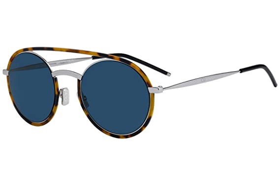 4704112111 Christian Dior Homme DiorSynthesis01 Sunglasses Yellow Red Havana w Blue  Mirror Gold Gradient Lens 51mm