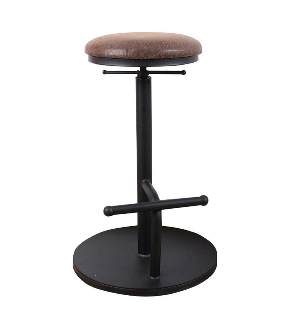 カウンターチェア ラウンドハイスツールバーキッチンダイニングチェア朝食スツール|ウッド/PUシートバーチェアタールスツールカウンターチェアは上下に上げる/椅子を回転させることができます (色 : #3) B07FCB83F4 #3 #3