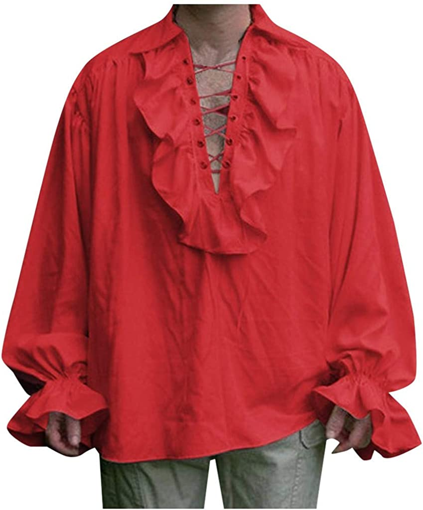 12222 Camisa Victoriana Steampunk para Hombre de Manga Larga ...