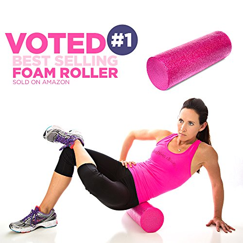 Product Stop, Inc Maintains Shape After Moderate to Heavy Use and Is Perfect for All Body Types. Pink Exercise Foam Roller with Trigger-Point Design - Massages, Soothes, Refreshes And Invigorates by Product Stop, Inc (Image #6)