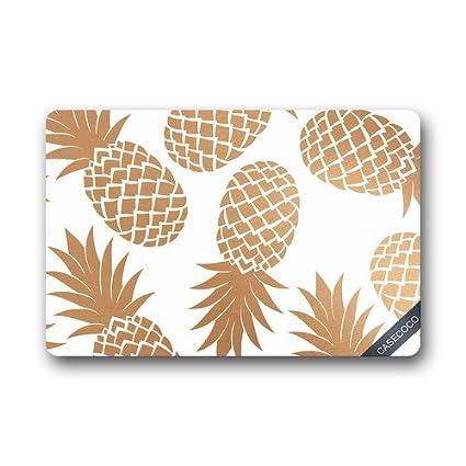 Amazon.com: Custom Pineapple Fruit Doormat Cover Rug Outdoor Indoor ...