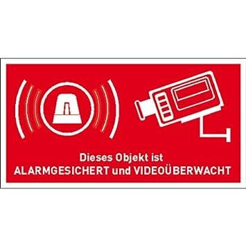 Aufkleber Alarmanlage Objekt Alarmgesichert Und Videouberwacht