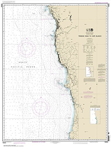 Paradise Cay Publications NOAA Chart 18600: Trinidad Head to Cape Blanco 33.1 x 43.8 (TRADITIONAL PAPER) ()