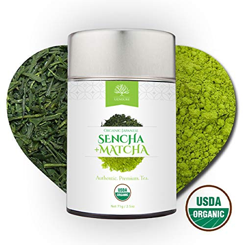 Sencha Loose Leaf Green Tea Mixed with Matcha Powder - Certified Organic - Authentic Japanese Tea