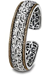 Charles Krypell Sterling Silver and Brown Diamond Cuff Bracelet