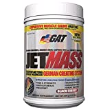 GAT Jetmass Fast-Acting Creatine Muscle Gainer, 1.81lbs, Black Cherry