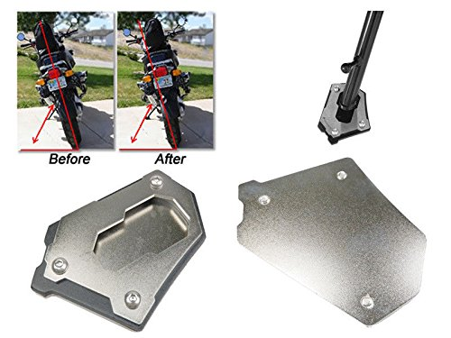Motorcycle Stainless Steel Large Sidestand Foot Kickstand Kick Stand Support Extension Plate Pad for 2013  BMW Water Cooled 2014-up R1200GS R 1200 GS Adv Adventure FATExpress