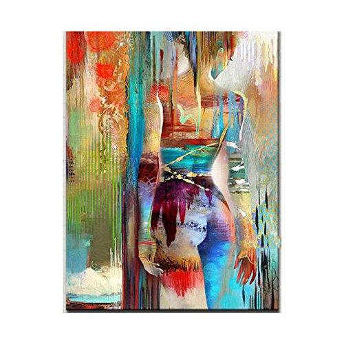 Faicai Art Abstract Wall Art Sexy Girl Textured Handmade Oil Paintings Modern Nude Sex Wall Art Canvas Painting Wall Decor for Living Room Bedroom Bathroom Office Frameless (20''x28'') by Faicai Art