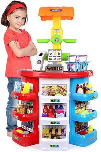 Click N' Play 38Piece Pretend Play Kids Grocery Supermarket Play Set Toy (Pretend Play)