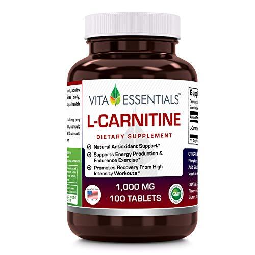 (Vita Essentials L-carnitine 1000 Mg Tablets, 100 Count)