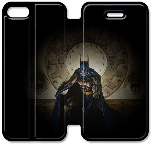 Klreng Walatina® Coque iPhone 6 6s Plus de 5,5 pouces Coque cuir Batman G1F5Dy