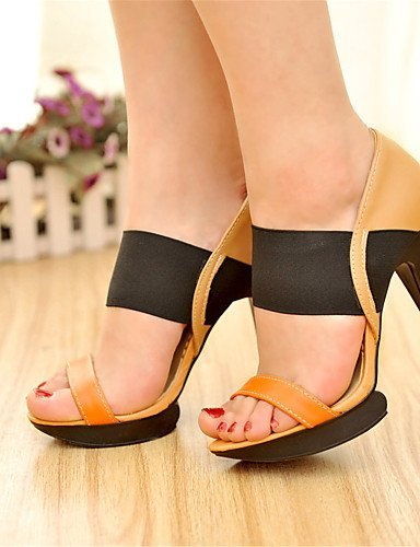 ShangYi Women's Shoes Leatherette Stiletto Heel Heels / Platform Sandals Office  Career / Dress / Casual Blue...