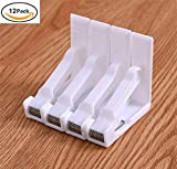 12 Plastic Tablecloth Clips, Spring Table Cloth Cover Clamps Holder for Home Party Wedding Picnic