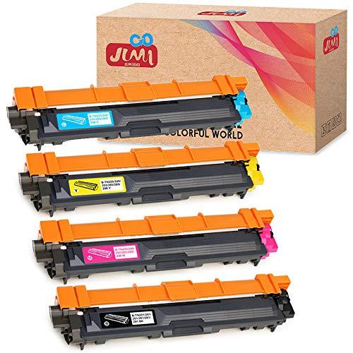 JIMIGO Compatible Toner Cartridges Replacement for Brother TN221 TN225 TN-221 TN-225 Toner, for Brother HL-3170CDW HL-3140CW HL-3180CDW, Brother MFC-9130CW MFC-9330CDW MFC-9340CDW Printer [4-Pack]