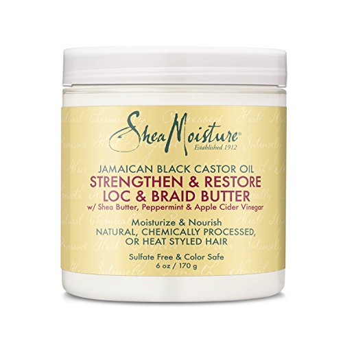 Shea Moisture Jamaican Black Castor Oil Loc & Braid Butter, 6 Ounce ()