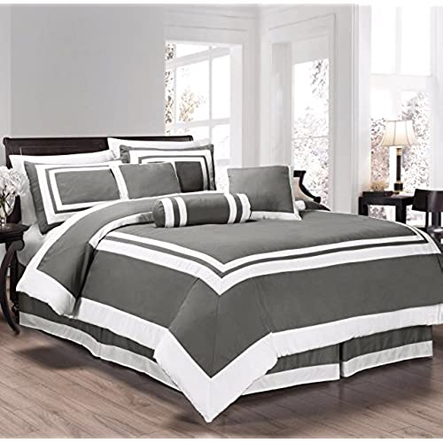 white and grey bedding amazon com 10819 | 51h 2b fmacal us500