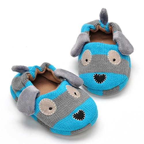 Pictures of Estamico Toddler Boys' Doggy Slipper Blue 5