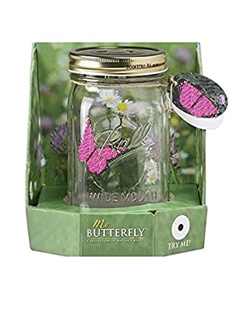 amazon my butterfly collection animated butterfly in a jar pink