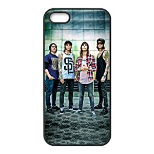 Apple iPhone 5,5s Black/White Case - Pierce The Veil iPhone 5,5s Snap On Protective Hard Case
