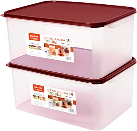 Caja de Almacenamiento de Cocina para Guardar los Alimentos de plástico Transparente con Tapa del bocado Juguete Arroz Harina Cubo Cubo Verduras Frutas: Amazon.es: Hogar