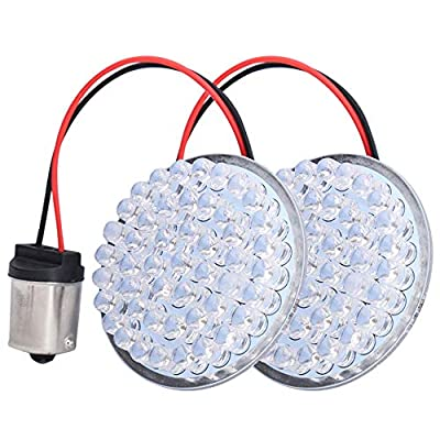LX-LIGHT Pair 2'' Bullet Style Rear Brake Light LED Turn Signal Kit with 1156 Base for Yamaha, Honda, Kawasaki, Chopper Motorcycle: Automotive