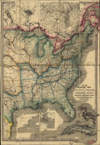 Amazon.com: 1861 Map Wyld's military map of the United States, the on