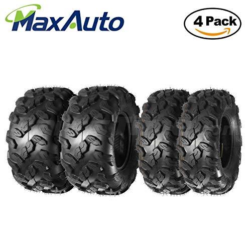 MaxAuto ATV/UTV Tires 26x9-12 26x9x12 Front & 26x11-12 26x11x12 Rear 6PR, Complete Set of 4 (20 12 9 Atv Tires)
